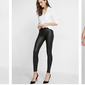 Express faux leather leggings NWT